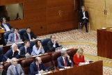 Cifuentes (de rojo) en la votación en la que se tumbó su proyecto de Ley (Lemes).