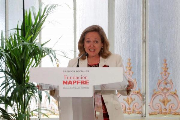 La ministra de Economía, Nadia Calviño, este miércoles durante un acto.