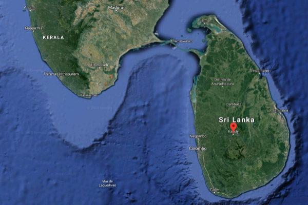 Localización de Kandy, en Sri Lanka, donde se ha producido la agresión.