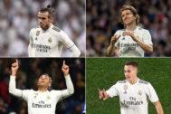 Bale, Modric, Mariano y Lucas Vázquez.