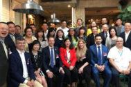 Técnicos y responsables de la delegación malagueña en su visita a Taiwan.