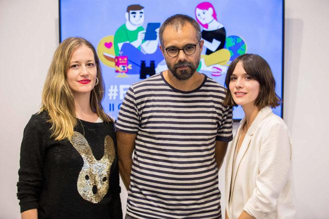 Nagore Suarez, Alberto García Salido y Sara Bamba, premiados en la Feria del Hilo.