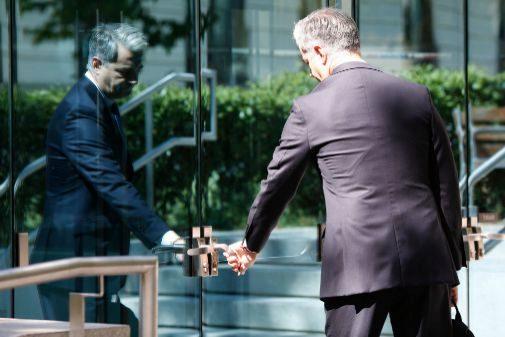 Ricardo Costa entra en la Audiencia Nacional para comparecer en el caso Bárcenas.