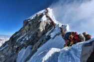 Imagen de la cima del Everest el pasado 22 de mayo.