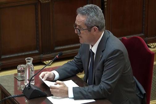 Joaquim Forn, durante su última palabra en el juicio del 1-O