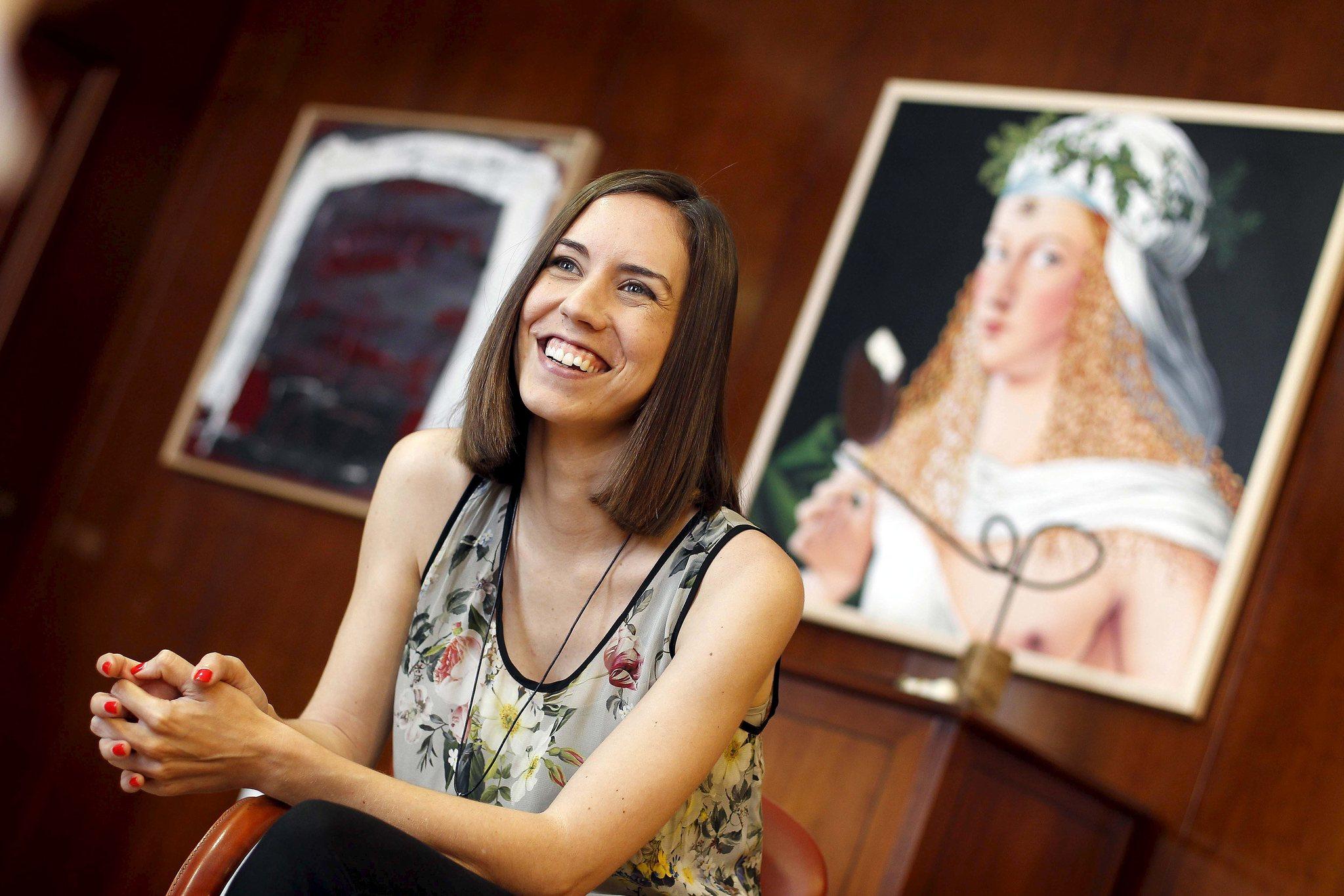 Diana Morant, en el Ayuntamiento de Gandía.