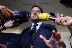 Asier Antona comparece ante los medios de comunicación
