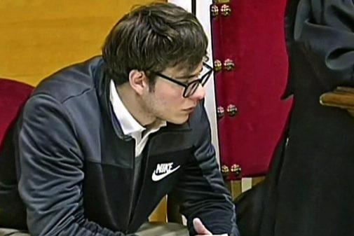 El asesino de Pioz, Patrick Nogueira, durante el juicio en Guadalajara