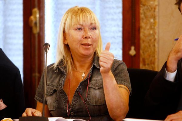 La mujer rusa acusada de asesinar a su marido en 2016 en Cala Millor durante el juicio.