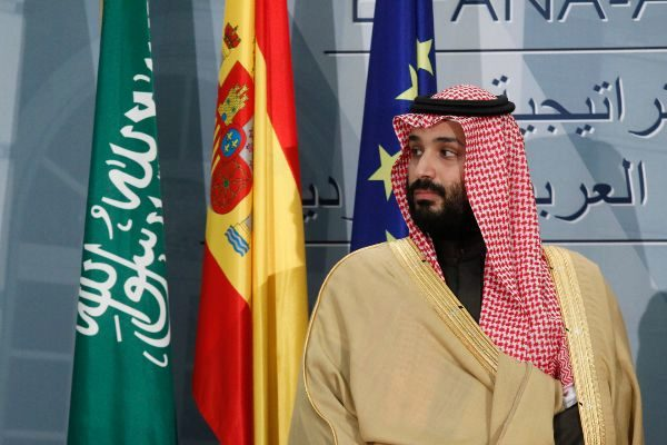 El príncipe Mohamed bin Salman durante su visita oficial a España en 2018