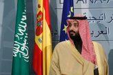 El príncipe Mohamed bin Salman durante su visita oficial a España en...