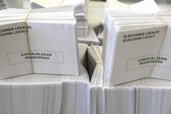Material para la celebración de las elecciones municipales el pasado 26 de Mayo.