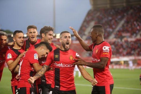 Un momento del partido del Mallorca ante el Albacete
