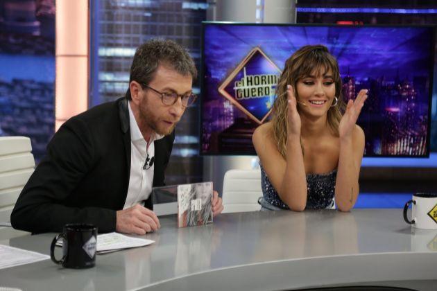 Pablo Motos y Aitana Ocaña en El Hormiguero en Antena 3, donde la...