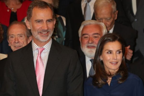 El Rey Felipe VI y la Reina Letizia en el acto de Real Academia...