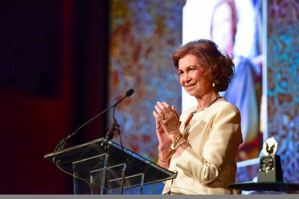 La Reina Sofía en Estados Unidos en 2015