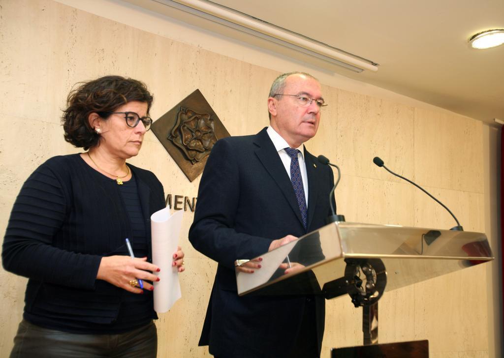 Carles Pellicer, en una rueda de prensa