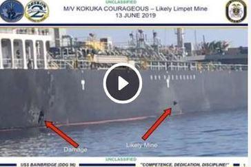 """EEUU acusa a Irán y el petrolero vio """"objetos voladores"""" antes de las explosiones"""