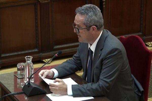 Joaquim Forn, durante la última sesión del juicio por el 'procés'