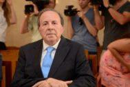 José María Rodríguez durante el juicio por el caso Over.