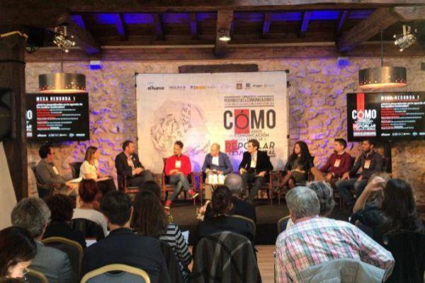 Una de las mesas redondas del seminario sobre periodismo y repoblación organizado esta semana en El Burgo de Osma (Soria).
