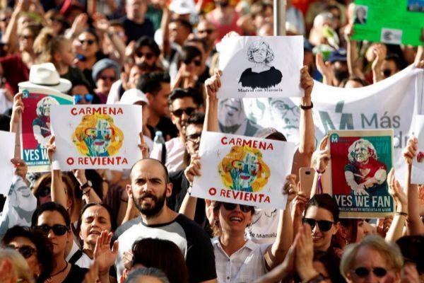 Manifestación el pasado 1 de junio en favor de Manuela Carmena.