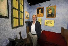 Willem Van Gogh en la muestra 'Meet Vincent Van Gogh'.