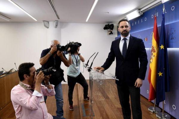 Santiago Abascal en el Congreso de los Diputados.