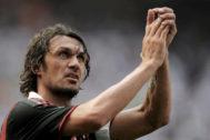 Paolo Maldini, el día de su despedida, en 2009.
