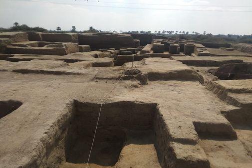 Una imagen de la excavación en Egipto.