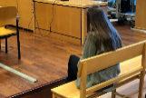 La acusada, durante el juicio.