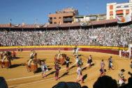 Mano a mano entre Castella y De Justo con los adolfos en Huesca