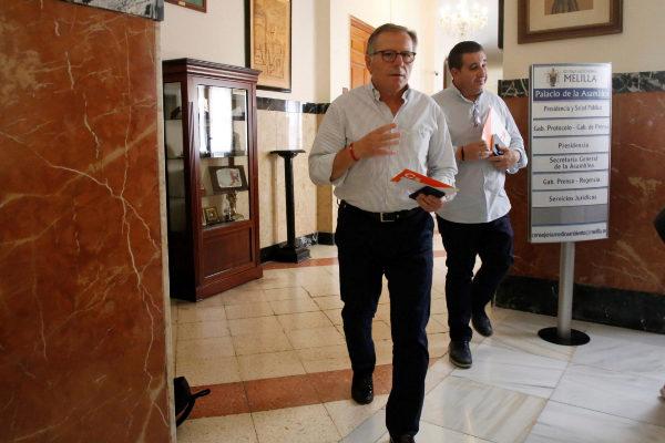 Eduardo de Castro, nuevo presidente de Melilla, en la Asamblea de la Ciudad.