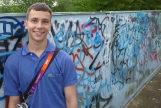 Unas de las últimas fotos de Alberto, en el callejón Billy Fury Way, en Londres.