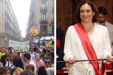 Ada Colau, reelegida entre el boicot independentista