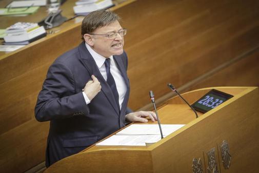 Ximo Puig, en el debate de inicio de la legislatura.