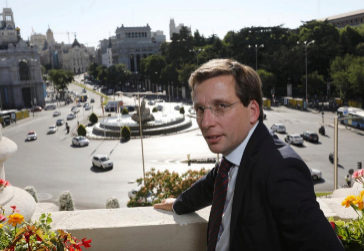 José Luis Martínez-Almeida, ayer, en el Ayuntamiento.