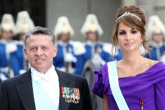 El rey Abdala II junto a su esposa Rania de Jordania