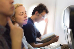 Un momento de tranquilidad durante el vuelo.