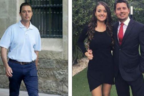 Miguel López y Maje junto a su marido, al que tramó asesinar.