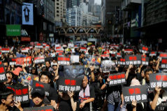Manifestantes exigen la retirada de la ley de extradición a China en Hong Kong