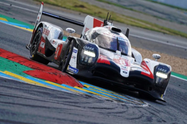 Le Mans (France).- Toyota Gazoo Racing (starting no.8) in a Toyota...