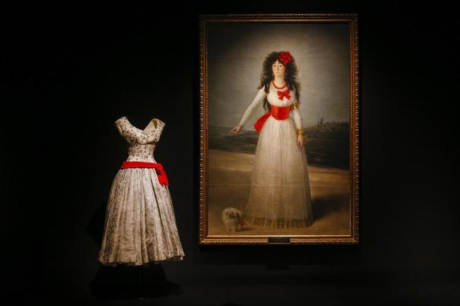 Exposición sobre Balenciaga en el Museo Thyssen de Madrid.