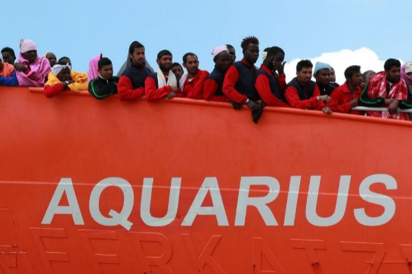 El buque Aquarius.