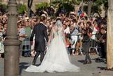 Sergio Ramos y Pilar Rubio recién casados
