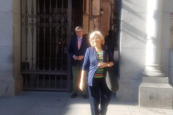 Manuela Carmena, tras presentar su renuncia como concejal.