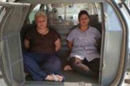 Rosana Candido y Kacyla Pessoa, tras ser detenidas.