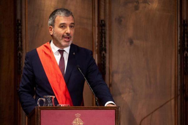 Jaume Collboni al jurar el cargo este sábado como concejal
