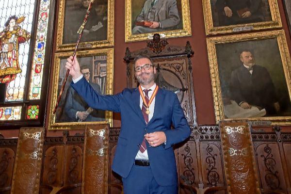 José Hila, en su investidura como alcalde Palma el pasado sábado.
