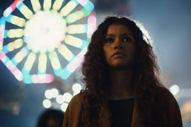 Rue Bennett (Zendaya) en la serie Euphoria, una controvertida...
